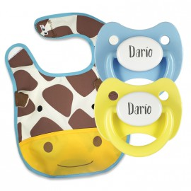 Pack Babero Modelo jirafa