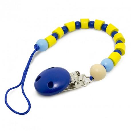 Sujeta Chupetes Bolitas Azules