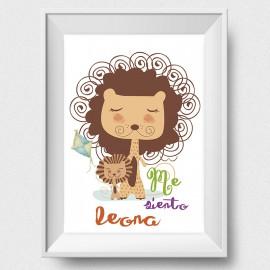 "Lámina ""Me siento leona"""
