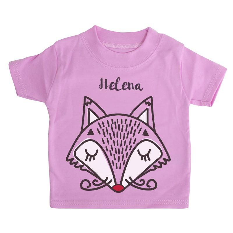 Camiseta beb personalizada fox chupetemania for Vajillas bebe personalizadas