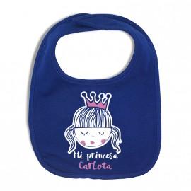 Babero Personalizado de Tela Mi Princesa