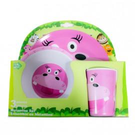 Set de desayuno infantil Hipopótamo