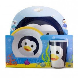 Set de desayuno infantil Pingüino