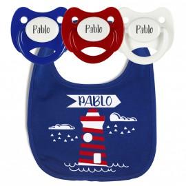 Pack Babero Personalizado Faro Marinero