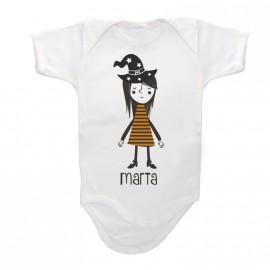 Body Bebé Personalizado Bruja Halloween