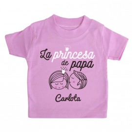 Camiseta Personalizada La Princesa de Papá