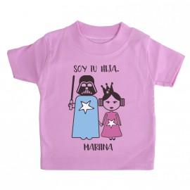 Camiseta Personalizada Darth y Leia