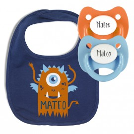 Pack Babero Personalizado Monster Halloween