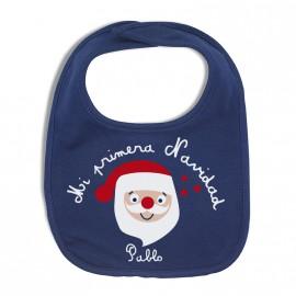 Babero de tela personalizado Papa Noel