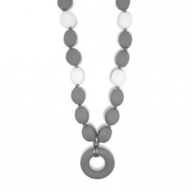 Collar de lactancia de olivas grises oscuras