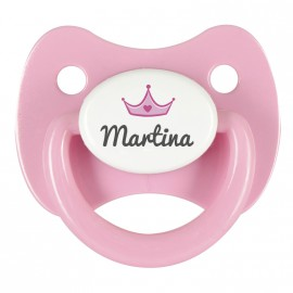 Chupete personalizado corona rosa