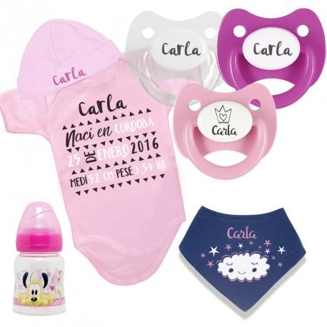 Pack Body Bebé Recuerdo de Nacimiento