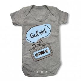 Body Bebé Personalizado Casette-Vintage
