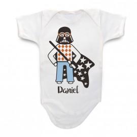 Body Bebé Personalizado Darth Vader Hipster