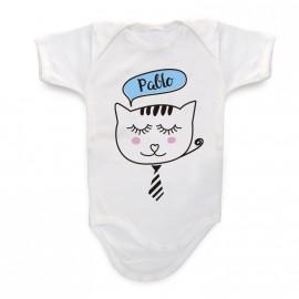 Body Bebé Personalizado gatito