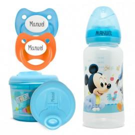 Pack Personalizado Biberón y Dosificador Mickey
