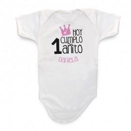 Body Bebé Personalizado Cumpleaños