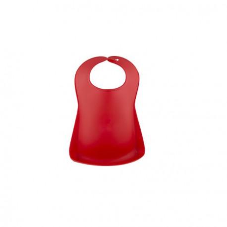 Babero Plástico Rojo