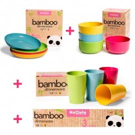 Platos Cocina Bambu Infantil