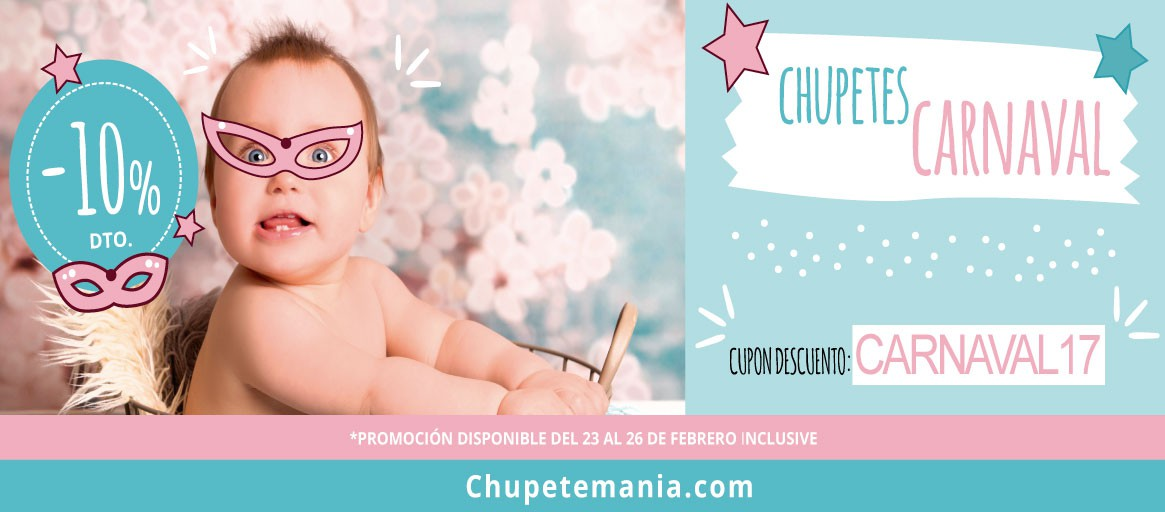 10% Descuento chupetes carnaval
